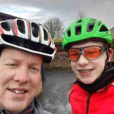Roger and his son complete the Race to Base challenge in 2021