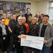 Cheque presentation of £3,500 to one of the joint H&H nominated charities in 2020