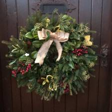 Emma Atkinson, H&H, wins the GNAAS Holly Wreath competition in December 2020