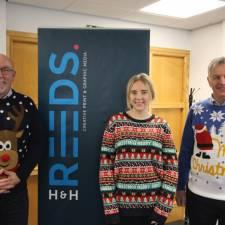 H&H Reeds staff had fun in their Christmas jumpers in 2020 - all monies raised for GNAAS