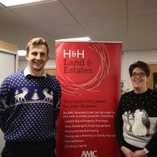 H&H Land & Estates staff had fun in their Christmas jumpers in 2020 - all monies raised for GNAAS