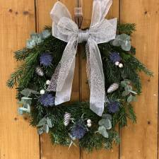 The Runner-up (and highly commended) Holly Wreath was made by Katie Hunter