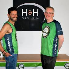 Richard and Ian before the 2021 Great North Run for GNAAS